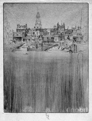 Drawing - Pennell Limehouse, 1906 by Granger