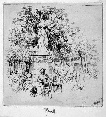 Drawing - Pennell Luxembourg Gardens, 1893 by Granger