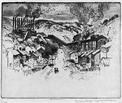 Drawing - Pennell Mauch Chunk, 1909 by Granger