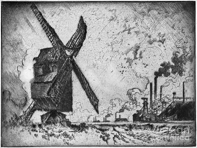 Drawing - Pennell Mills, 1910 by Granger
