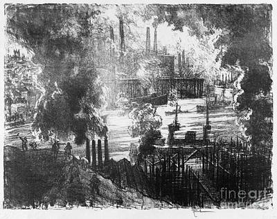 Drawing - Pennell Munitions River, 1916 by Granger