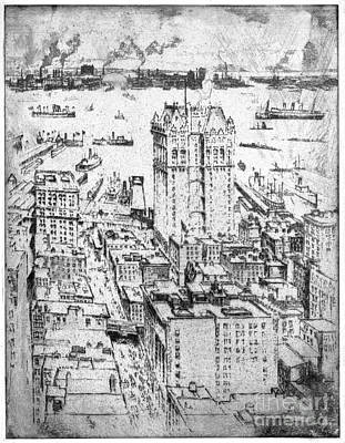 Drawing - Pennell New York, 1908 by Granger