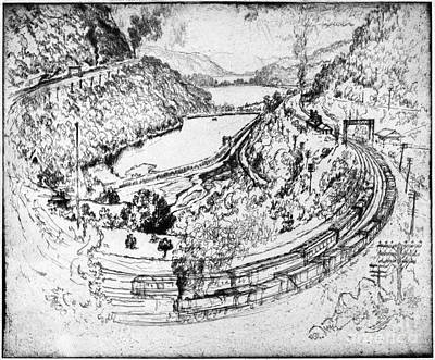 Drawing - Pennell Railroad, 1919 by Granger
