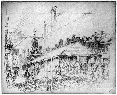 Drawing - Pennell Second Street, 1920 by Granger