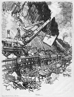 Drawing - Pennell Steam Shovel, 1912 by Granger