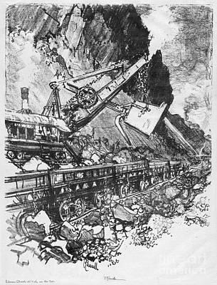 Drawing - Pennell Steam Shovel, 1912 by Granger