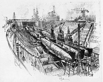Drawing - Pennell Submarines, 1917 by Granger