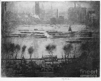 Drawing - Pennell Thames, 1909 by Granger