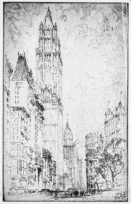 Drawing - Pennell Woolworth, 1916 by Granger