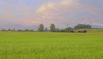 Penngrove Field Art Print by Thomas  Hansen