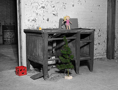 Photograph - Pennhurst Christmas by Michael Porchik