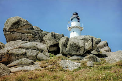 Photograph - Penninis Lighthouse St Mary's Island by Christopher Rees