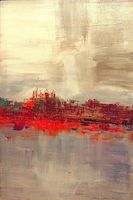 Painting - Penn's Landing by Lilliana Didovic