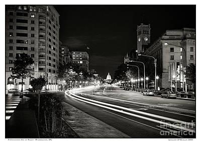 Gregory Ohanlon Photograph - Pennsylvania Ave At Night by Gregory Ohanlon