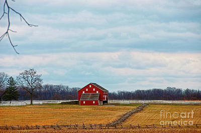 Photograph - Pennsylvania Barn And Rural Landscape by David Arment