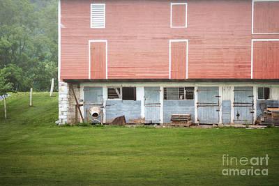 Photograph - Pennsylvania Barn Doors Field Landscape by Andrea Hazel Ihlefeld