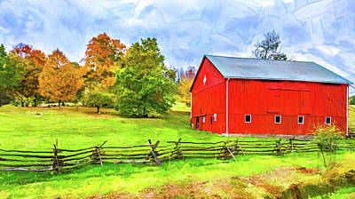 Photograph - Pennsylvania Barn - Paint 2 by Steve Harrington