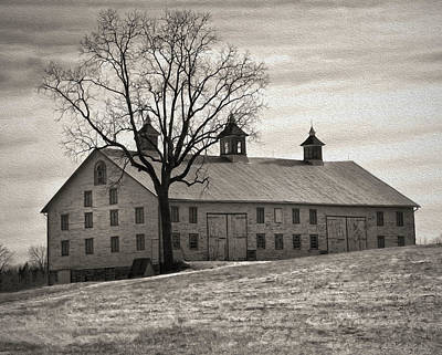 Art Print featuring the digital art Pennsylvania Barn by Robert Geary