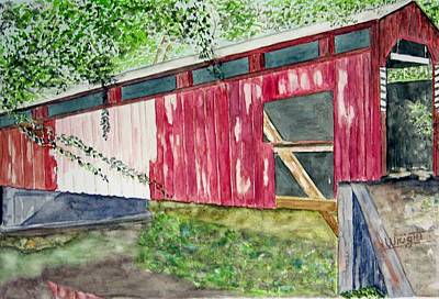 Covered Bridge Painting - Pennsylvania Bridge To Nowhere by Larry Wright