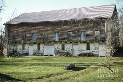 Photograph - Pennsylvania Brown Barn Field by Andrea Hazel Ihlefeld