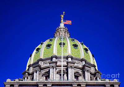 Photograph - Pennsylvania Capitol Dome  by Olivier Le Queinec