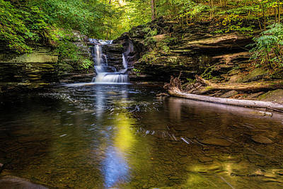 Ricketts Glen Photograph - Pennsylvania Cascades by Marvin Spates