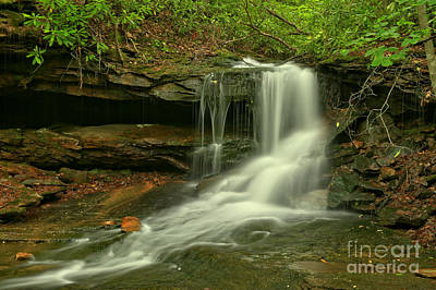 Photograph - Pennsylvania Cave Falls by Adam Jewell