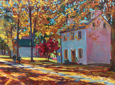 Fallen Leaf Painting - Pennsylvania Colors by David Lloyd Glover