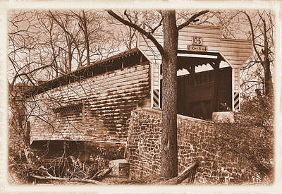 Photograph - Pennsylvania Country Roads - Kennedy Covered Bridge Over French Creek No. 1s - Chester County by Michael Mazaika