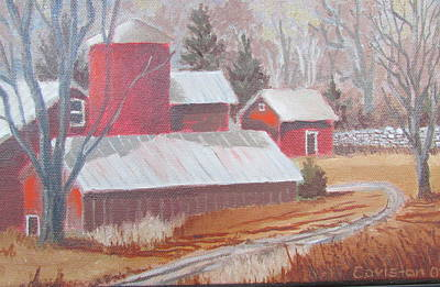 Painting - Pennsylvania Farm IIi by Tony Caviston