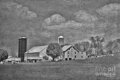 Photograph - Pennsylvania Farm In B/w by Dyle Warren