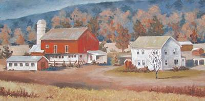 Painting - Pennsylvania Farm by Tony Caviston
