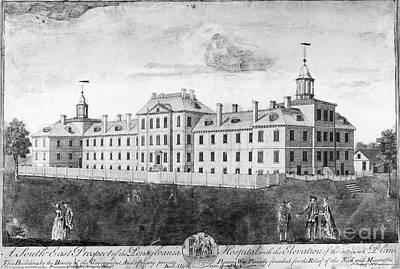 Colonial Man Photograph - Pennsylvania Hospital, 1755 by Granger
