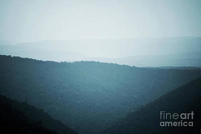Photograph - Pennsylvania Mountain Clouds Landscape by Andrea Hazel Ihlefeld