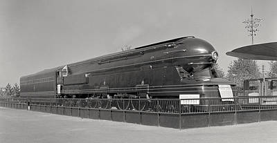 Photograph - Pennsylvania Railroad Class S1 Locomotive - 1939 by War Is Hell Store