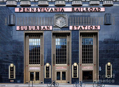 Pennsylvania Railroad Suburban Station Print by Olivier Le Queinec