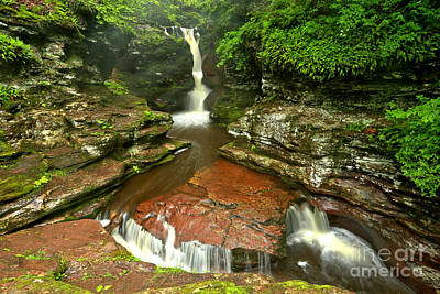 Photograph - Pennsylvania Red Rock Falls by Adam Jewell