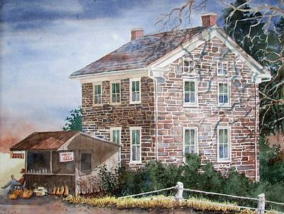 Painting - Pennsylvania Roadside Market by Tony Caviston