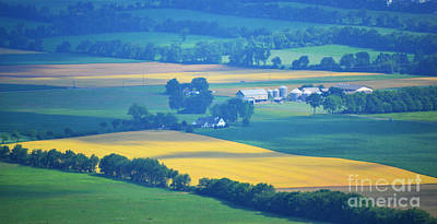 Photograph - Pennsylvania Rolling Hills Farms by Andrea Hazel Ihlefeld