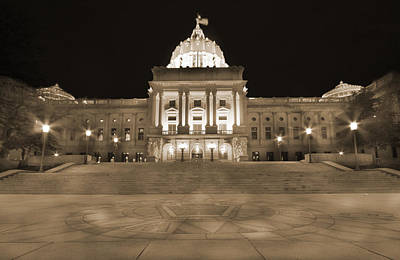Photograph - Pennsylvania State Capitol by Shelley Neff