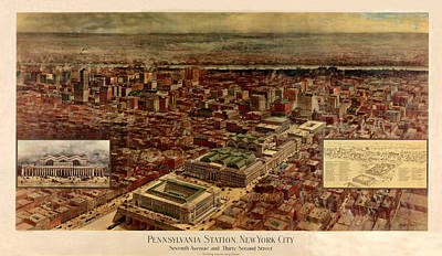 Photograph - Pennsylvania Station 1910 by Andrew Fare