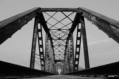 Photograph - Pennsylvania Steel Co. Railroad Bridge by Nathan Little