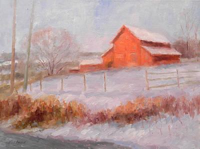 Redfield Painting - Pennsylvania Storage Barn by Kit Dalton