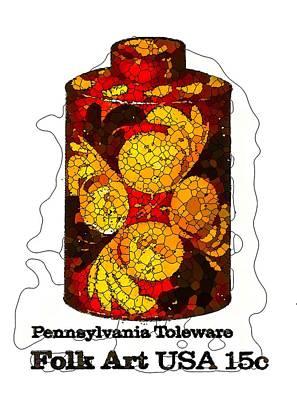 Pennsylvania Toleware Tea Caddy Art Print