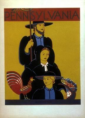 Mixed Media - Pennsylvania, United States - Family - Retro Travel Poster - Vintage Poster by Studio Grafiikka