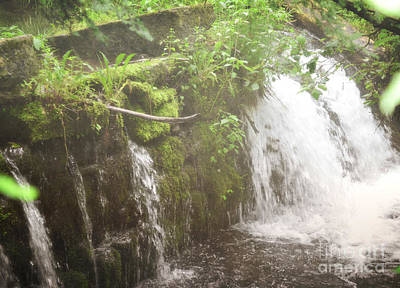 Photograph - Pennsylvania Waterfall Forest Landscape by Andrea Hazel Ihlefeld