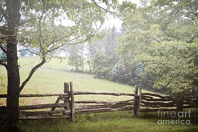 Photograph - Pennsylvania Woodland Fence Landscape by Andrea Hazel Ihlefeld