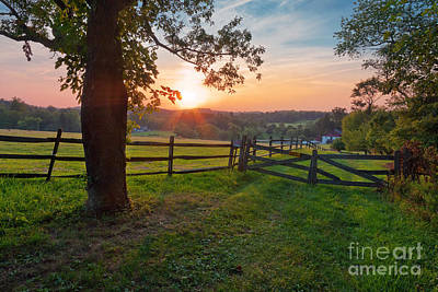 Pennypack Photograph - Pennsylvanian Summer Sunset by David Lamb