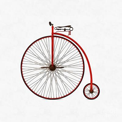 Digital Art - Penny Farthing Bicycle by Edward Fielding