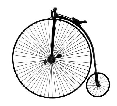 Photograph - Penny Farthing Black On White by Gill Billington